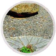 Mill Stones Round Beach Towel