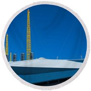 Millennium Dome Abstract Round Beach Towel
