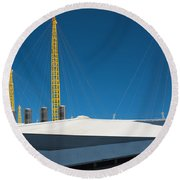 Millennium Dome London Round Beach Towel