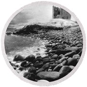 Minard Castle Round Beach Towel