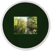 Mini Stream Round Beach Towel