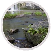 Minneopa Falls 36 Round Beach Towel