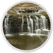Minneopa Upper Falls 18 Round Beach Towel