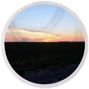 Minnesota Sunset 17 Round Beach Towel
