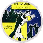 Minnie The Moocher Round Beach Towel