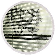 Mirages Wind Round Beach Towel by Empty Wall