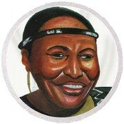 Miriam Makeba Round Beach Towel