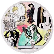 Mirror Ladies Round Beach Towel