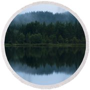 Mirror Reflections Round Beach Towel