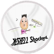 Mishell Shocked Round Beach Towel