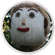 Miss Julia Scarecrow Round Beach Towel