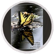 Missing You - Butterfly Round Beach Towel