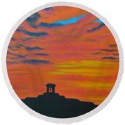 Mission Bell Round Beach Towel