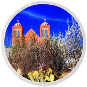 Mission In Silver City Nm Round Beach Towel