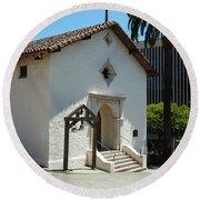 Mission San Rafael Arcangel Chapel Round Beach Towel