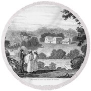 Missionary College, 1837 Round Beach Towel