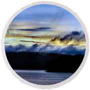 Mist After The Storm Round Beach Towel