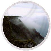 Mists Along The Kalalau Valley Round Beach Towel