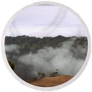 Mists From The Kalalau Valley Round Beach Towel