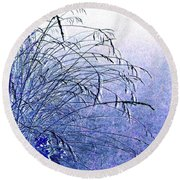 Misty Blue Round Beach Towel