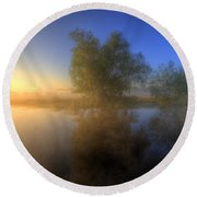 Misty Dawn 1.0 Round Beach Towel