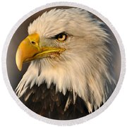 Misty Eagle Round Beach Towel