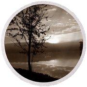 Misty Reflections S Round Beach Towel