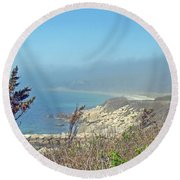 Misty View From Nobska Point - Woods Hole Ma Round Beach Towel
