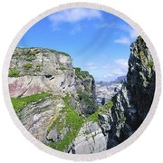 Mizen Head, Ivagha Peninsula, Co Cork Round Beach Towel