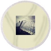 Mock. Yeah! Ing. Yeah! Bird. Yeah! Round Beach Towel