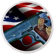 Model 1911-a1 Round Beach Towel