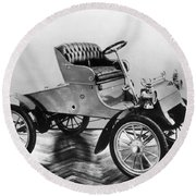 Model A Ford, 1903 Round Beach Towel