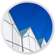 Modern Architecture Round Beach Towel by Tom Gowanlock