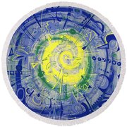 Modern Art Five Round Beach Towel