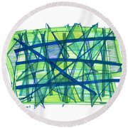 Modern Drawing Ninety-nine Round Beach Towel