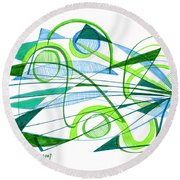 Modern Drawing Ninety-one Round Beach Towel