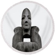 Modern Sculpture Round Beach Towel