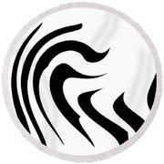 Modern Zebra  Round Beach Towel