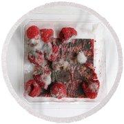 Moldy Raspberries Round Beach Towel