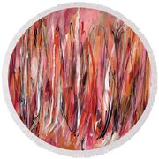 Moments We Remember Round Beach Towel