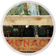 Monaco Wooden Crate Round Beach Towel