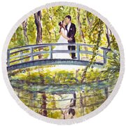 Monet Wedding Round Beach Towel