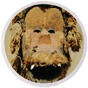 Monkey Of The Tribe Round Beach Towel