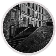 Montmartre After Dark Round Beach Towel