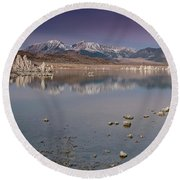 Mono Lake Panorama Round Beach Towel