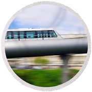 Monorail Carriage Round Beach Towel