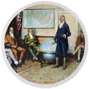 Monroe Doctrine, 1823 Round Beach Towel
