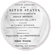 Monroe: Title Page, 1798 Round Beach Towel