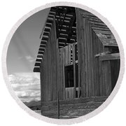 Montana Weathered Barn Round Beach Towel