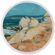 Monterey Coast Round Beach Towel